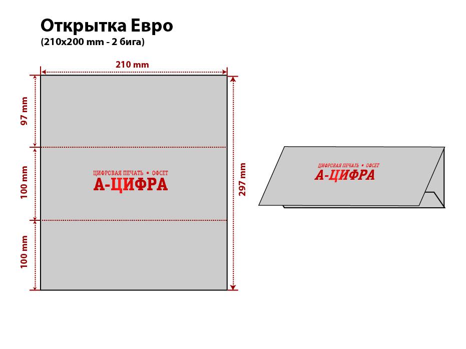 Евро открытка печать